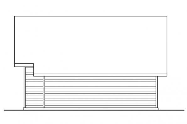 Two Car Carport 20-048 - Left Elevation