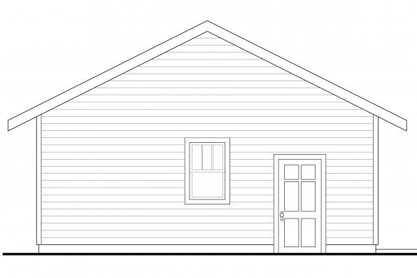 Two Car Garage 20-108 - Left Elevation