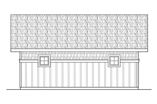 Two Car Garage Plan 20-003 - Right Elevation