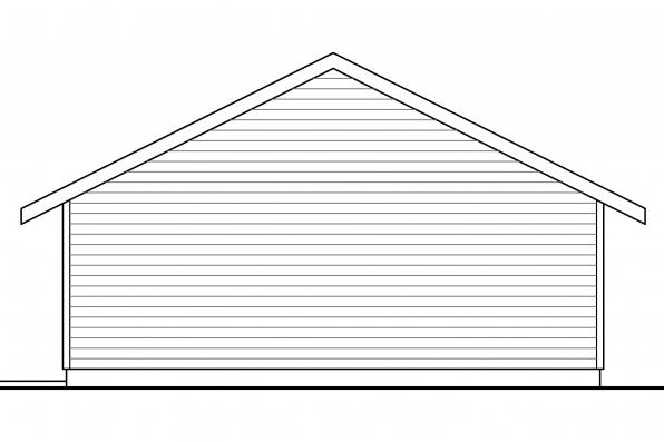 Two Car Garage Plan 20-140 - Right Elevation