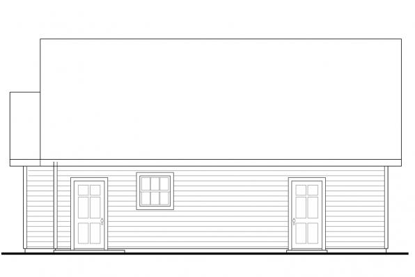 Two Car Garage Plan - Callahan 30-886 - Right Elevation