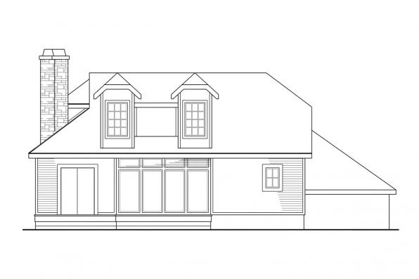 Vacation Home Plan - Covington 30-131 - Rear Elevation