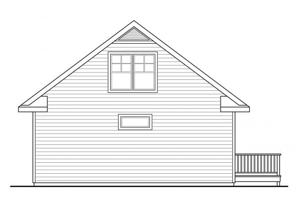 Vacation Home Plan - Lyndon 30-769 - Rear Elevation