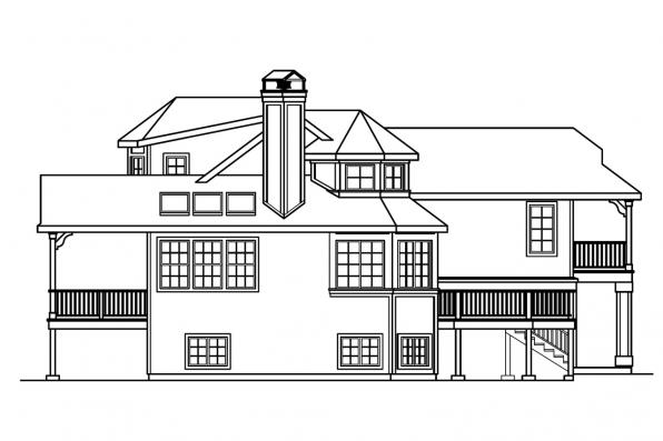 Vacation Home Plan - Sherbrooke 30-371 - Left Elevation