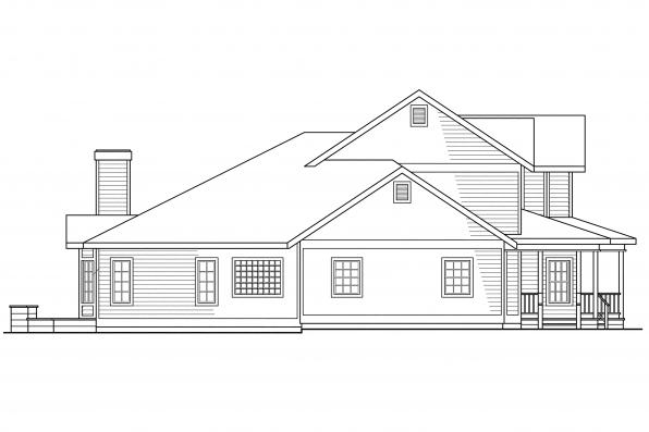 Victorian House Plan - Morgan 10-059 - Left Elevation