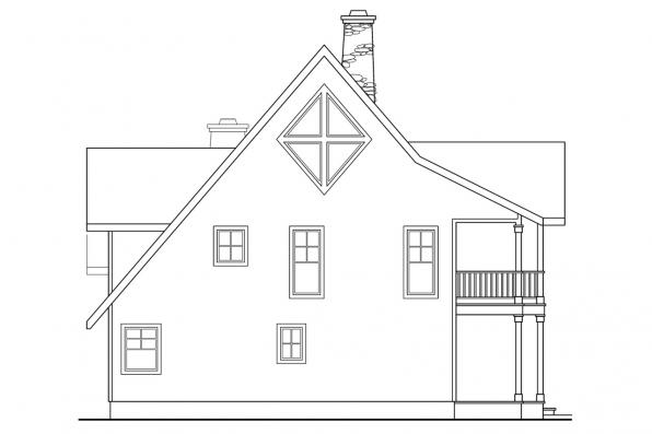 View Lot House Plan - Avondale 10-347 - Left Elevation