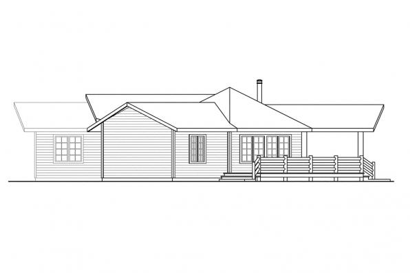 View Lot House Plan - Bismarck 10-329 - Right Elevation