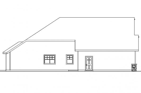 View Lot House Plan - Cauldwell 30-509 - Left Elevation