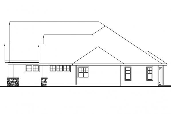 View Lot House Plan - Cauldwell 30-509 - Right Elevation