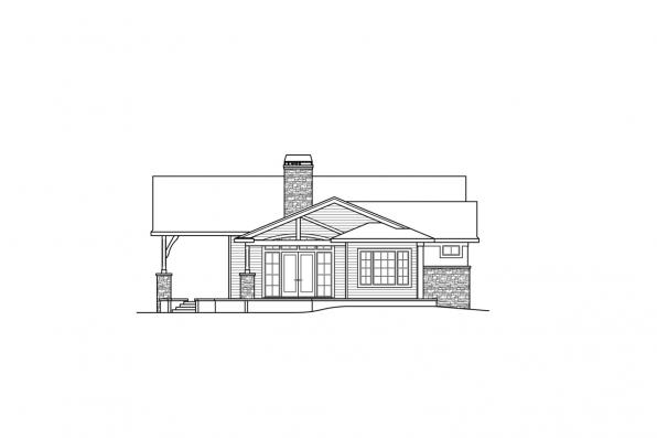 View Lot House Plan - Delfino 31-062 - Left Elevation