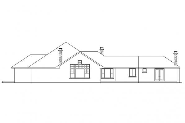 View Lot House Plan - Hillcrest 10-557 - Rear Elevation