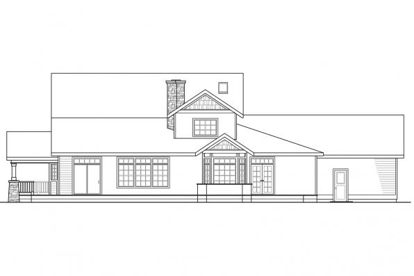 View Lot House Plan - Kendrick 30-236 - Rear Elevation