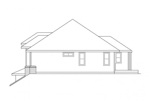 View Lot House Plan - Lenox 30-066 - Right Elevation