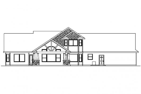 View Lot House Plan - Montego 30-612 - Rear Elevation