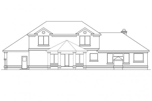 View Lot House Plan - Providence 10-305 - Rear Elevation