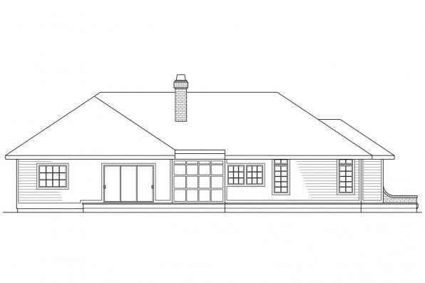 View Lot House Plan - Somerset 10-057 - Rear Elevation
