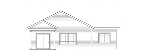 Cedar Ridge - 30-855 - Craftsman Home Plan - Rear Elevation