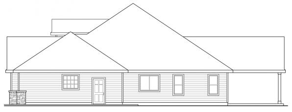 Jamestown - 30-827 - Ranch Home Plans - Right Elevation