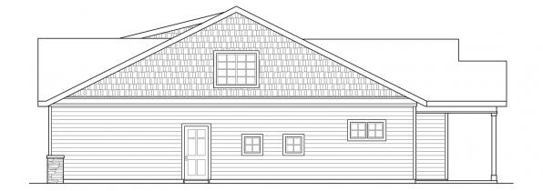 Cedar Ridge - 30-855 - Craftsman Home Plan - Right Elevation