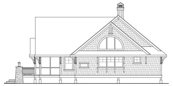 Glen Eden - 50-017 - Craftsman Home Plan - Right Elevation