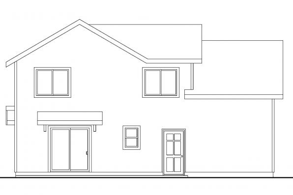 Small House Plan - Calhoun 30-479 - Rear Elevation