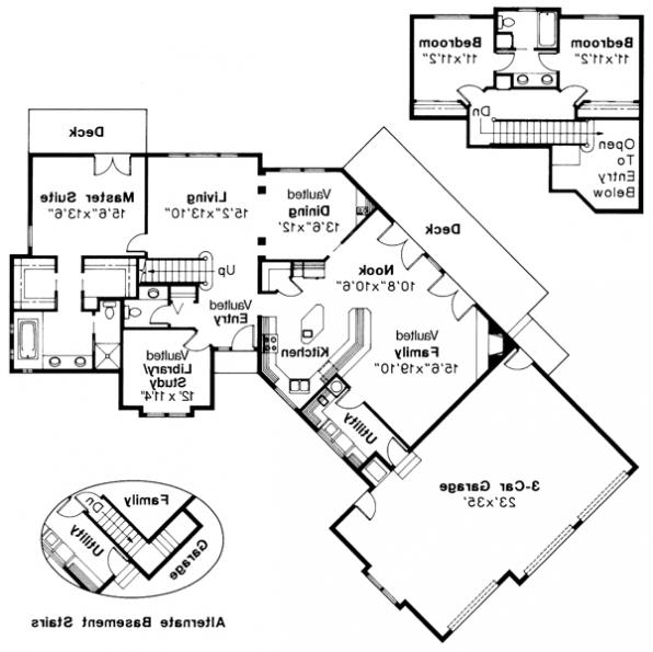 Beaumont - 10-052 - Ranch Home Plans - Floor Plan