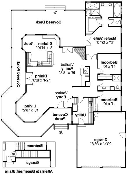 Cortland - 10-195 - Country Home Plans - Floor Plan