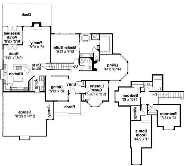 Blueridge - 10-205 - Contemporary Home Plans - Floor Plan