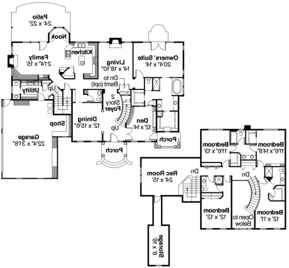 Palmary - 10-404 - Estate Home Plans - Floor Plan