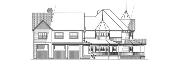 Victorian - 10-027 - Estate Home Plans - Right Elevation