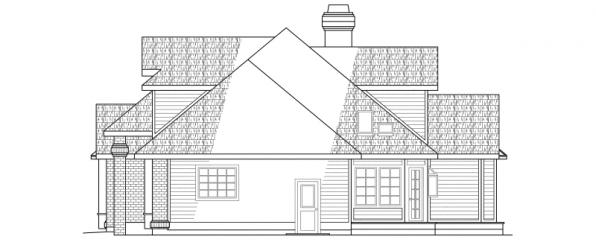 Melrose - 10-047 - Traditional Home Plans - Left Elevation