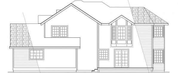 Melville - 10-096 - Country Home Plans - Left Elevation