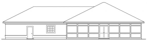Medina - 10-188 - Southwestern Home Plans - Rear Elevation