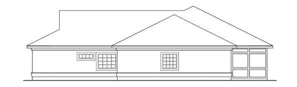 Medina - 10-188 - Southwestern Home Plans - Left Elevation