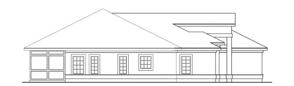 Medina - 10-188 - Southwestern Home Plans - Right Elevation