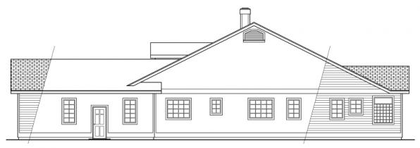 Cortland - 10-195 - Country Home Plans - Left Elevation