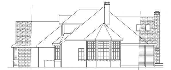 Blueridge - 10-205 - Contemporary Home Plans - Left Elevation