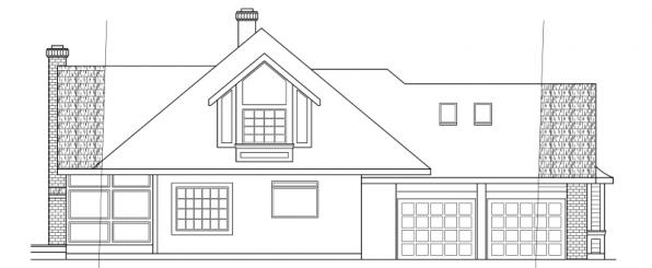 Blueridge - 10-205 - Contemporary Home Plans - Right Elevation