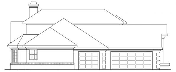 Wichita - 10-254 - Traditional Home Plans - Right Elevation
