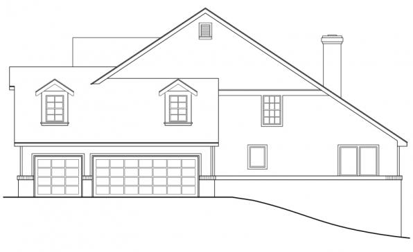 Clayton - 10-292 - Country Home Plans - Left Elevation