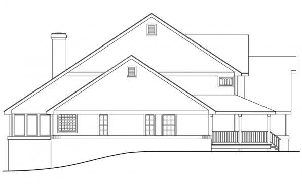 Clayton - 10-292 - Country Home Plans - Right Elevation