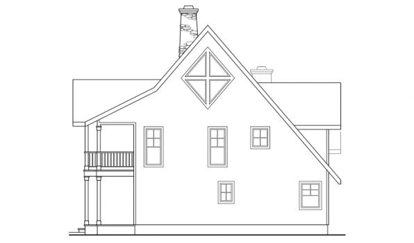 Avondale - 10-347 - Lodge Home Plans - Left Elevation
