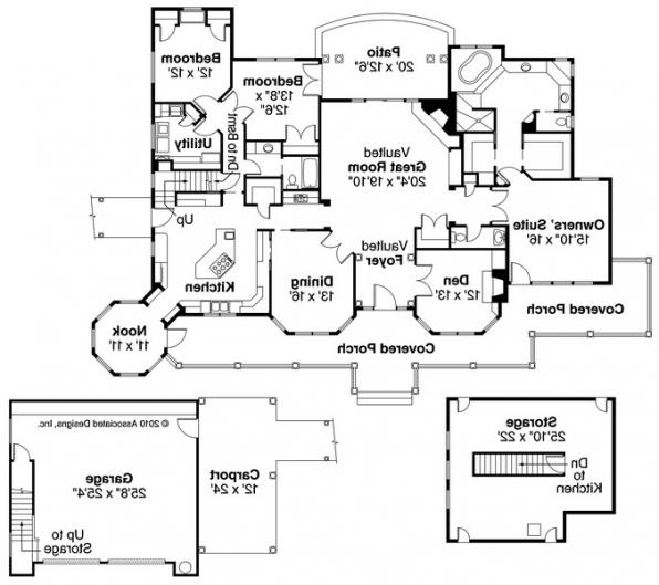 Greenbriar - 10-401 - Country Home Plans - Floor Plan