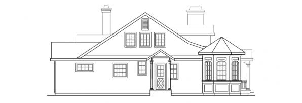 Greenbriar - 10-401 - Country Home Plans - Right Elevation