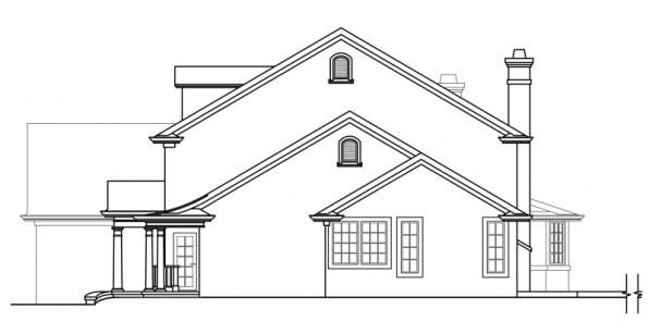 Palmary - 10-404 - Estate Home Plans - Left Elevation