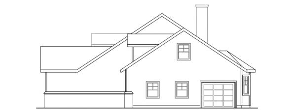 Clearheart - 10-410 - Country Home Plans - Left Elevation