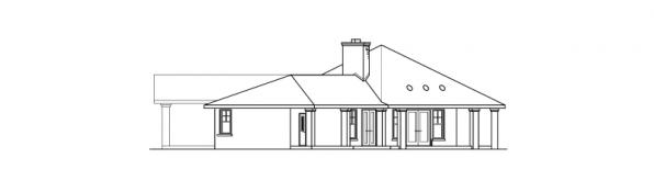 Aberdeen - 10-428 - Hexagonal Home Plans - Left Elevation