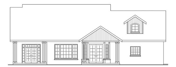 Heartsong - 10-470 - Craftsman Home Plans - Rear Elevation