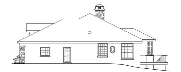 Stevenson - 10-502 - European Home Plans - Left Elevation
