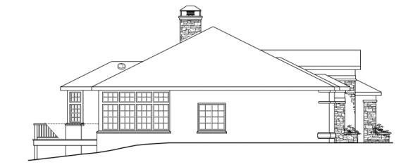 Stevenson - 10-502 - European Home Plans - Right Elevation